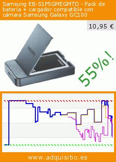 Samsung EB-S1P5GMEGMTD - Pack de batería + cargador compatible con cámara Samsung Galaxy GC100 (Electrónica). Baja 55%! Precio actual 10,95 €, el precio anterior fue de 24,59 €. http://www.adquisitio.es/samsung/eb-s1p5gmegmtd-pack