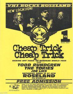 Cheap Trick & Todd Rundgren Tour Poster.