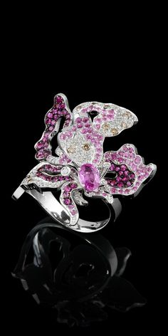 Rosamaria G Frangini | High Floral Jewellery | Master Exclusive Jewellery - Diamond Flowers - ring