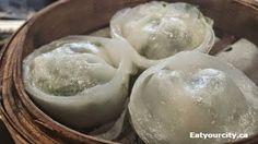 Crab and pea shoot dumpling Dim Sum, Dumpling, Ontario, Toronto, Ice Cream, Tasty, Restaurant, Desserts, Food