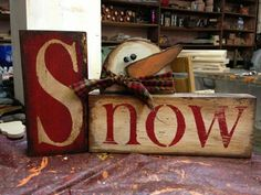 country Christmas Crafts Easy DIY Christmas Decor Ideas for Front Porch - Wooden Signs Diy Christmas Decorations Easy, Christmas Wood Crafts, Christmas Signs, Rustic Christmas, Christmas Snowman, Christmas Projects, Winter Christmas, Christmas Ideas, Holiday Crafts