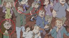 cameos from dipper and mabel from gravity falls, and connie from steven universe, in little witch academia 2