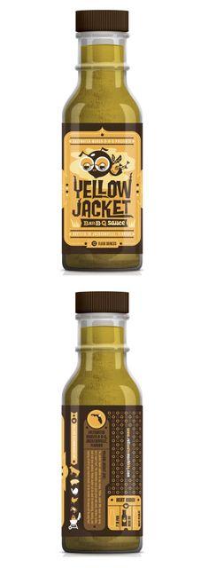 Yellow Jacket Bar-B-Q Sauce packaging by Kendrick Kidd
