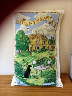 Pillow cover from Emma Bridgewater tea towel | beckymeadows on Etsy