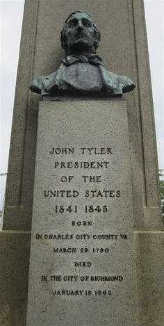 Grave Marker- John Tyler - Hollywood Cemetery, Richmond, Virginia. http://thefuneralsource.org/trad0901.html
