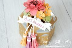 Tutorial: Hexagon-Box with Lid | with Stampin' Up! & nadinehoessrich.de