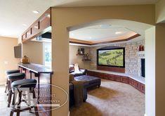 entertainment rooms   Finished Basement Company - Calamus Circle Basement