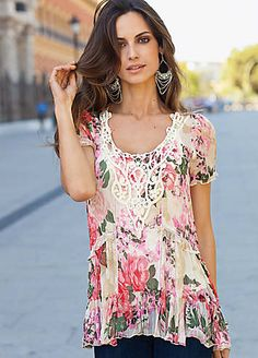 Together Romantic Floral  Printed Top | Tops | Fashion | Kaleidoscope
