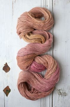 Tennessee Alpaca fingering weight in Cobbler Dyed with cutch and brazil wood