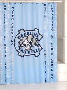 North Carolina Tar Heels Shower Curtain Blue Pride Unc Tarheels University