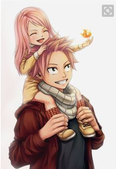 Nashi and natsu r so cute together like father and daughter