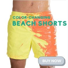 Changing Short depends on temperature.The color is changeable when the pants attach to the water with different temperature or under sunshine! Currently 60%OFF with Free Shipping!! Only on neulons.com Green To Blue, Man Swimming, Shorts With Pockets, Swim Trunks, Swim Shorts, Mens Fitness, Quick Dry, Soft Fabrics, Color Change