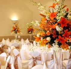 #wedding #table #centerpiece  These stunning orange florals are perfect way to brighten up a autumn wedding, compliment the florals with gold, brown or latte tones to bring some warmth and love to your special day #floral #arrangement #orange #wedding #centerpieces #melbourne #centerpiece #crystals #hire #melbourne #floralcenterpieces #floralcenterpiecesmelbourne #floralstyling #flowercenterpieces #flowersforweddings #tabledecorations  www.decorit.com.au (13)