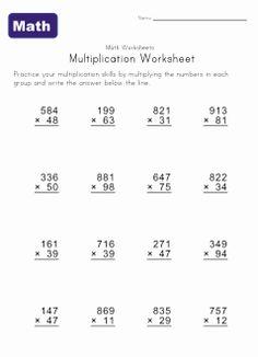Hard Multiplication Sheets Printable | Multiple Digit Multiplication Worksheets