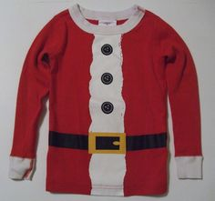 Does your toddler boy or girl just love Santa Claus?  If they do they'll love wearing this red, white and black 100% organic cotton shirt from Hanna Andersson shirt!