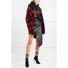 Vetements Spiral leather mini skirt (29.269.100 IDR) ❤ liked on Polyvore featuring skirts, mini skirts, real leather mini skirt, leather miniskirt, white mini skirt, leather mini skirts and short mini skirts