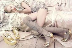 Model Crush Monday . Sasha Pivovarova . Prada« lightly fanciful