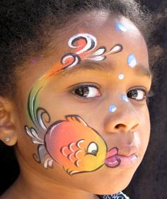 Are you in search of ideas for face painting for parties? Then check out our pick of 30 designs for face painting for kids! Girl Face Painting, Face Painting Designs, Painting For Kids, Animal Face Paintings, Animal Faces, The Face, Face And Body, Mermaid Face Paint, Cheek Art