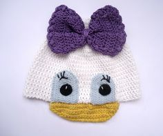 Daisy Duck Inspired Crochet Hat Pattern