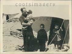 1943 WWII Greek Children at Refugee Camp Camp Moses Well Egypt Press Photo