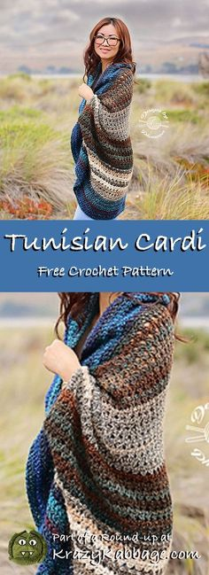 How to Crochet a Little Black Crochet Dress - Cardigans - Ideas of Cardigans - Cozy Cardigans Free Crochet Patterns Krazy Kabbage Cardigan Au Crochet, Black Crochet Dress, Crochet Jacket, Crochet Sweaters, Crochet Clothes, Crochet Shrugs, Crochet Patterns Free Women, Tunisian Crochet Patterns, Knitting Patterns