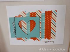 Catalogue Launch Party - the display projects!, stampin up, a christy production, mini catalogue launch party, retro fresh suite, DSP, washi tape, full heart punch, baker's twine