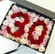 Number Roses! Great idea for anniversary or birthday. #VirginFarms #preservedroses #floraldesign