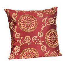 Suzani Crimson Red Floral Pillow at Kirkland's #kirklands #pinitpretty