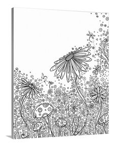 Field Of Flowers Coloring Canvas By On Demand Zulily Zulilyfinds