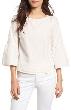 Free shipping and returns on Madewell Bell Sleeve Cotton Top at Nordstrom.com. Crisp and breezy in striped cotton poplin, this versatile top features swingy bell sleeves for a look that's fit for the office with a touch of sass for post-work drinks.