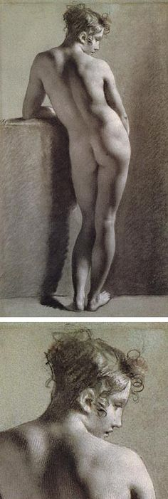 Pierre-Paul Prudhon. Prud'hon was a master draftsman and his academic figure studies are among the finest ever done.