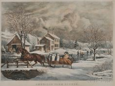 American Farm Scenes, Nathaniel Currier, publisher
