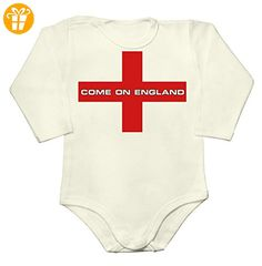 Come on England Football Baby Long Sleeve Romper Bodysuit Extra Large - Baby bodys baby einteiler baby stampler (*Partner-Link)