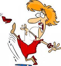 funny cartoon women falling in heels - Bing Images