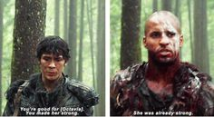 """Bellamy Blake and Lincoln in the new promo clip """"Survival of the Fittest"""""""