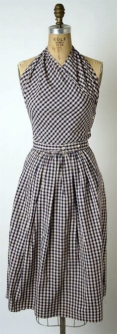 Rockabilly clothing - gingham dress