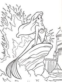 384 Best Ariel Coloring Pages Images On Pinterest