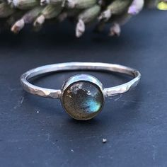 Sterling Silver Labradorite Stacking Ring Handmade UK Gemstone 925 Solid Silver Size K L Stacking Rings, Labradorite, Earrings Handmade, Silver Rings, Gemstones, Sterling Silver, Unique Jewelry, Handmade Gifts, Etsy