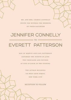 Personalized Stationery - Glamorous Geometrics Invitation