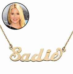 Really, really want a name necklace with baby's name - as seen on Up All Night! No, baby's name will not be Sadie Cute Names, Baby Names, Mother Day Wishes, Name Games, Gold Name Necklace, Nursery Inspiration, Sadie, Super Cute, My Style