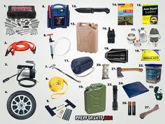 The Ultimate Emergency Car Kit- http://thefansbeenhit.com/the-ultimate-emergency-car-kit/ #Emergency   #B.O.V