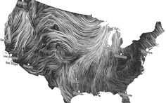 This is right out amazing visualization of the wind speeds! Beautiful!