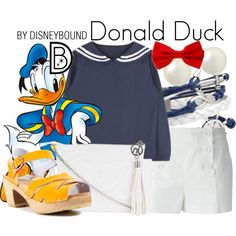 Donald Duck by leslieakay on Polyvore //