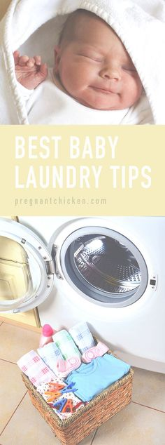 Amazing tricks, tips and gear for tackling baby laundry! Even includes the recipe for that famous DIY magic stain remover! Would make an excellent shower gift basket for a baby shower too. #babyclothes #clothes Gifts for baby showers #babyshowergifts