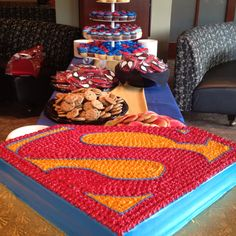 Sodexo presents student worker appreciation day, super hero style. Such a cool cake!!