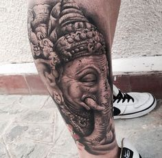 Leg Sleeve Tattoo, Arm Tattoo, Lotus Tattoo, Tattoo Ink, Hindu Tattoos, 3d Tattoos, Dope Tattoos, Ganesha Tattoo, Bhudda Tattoo