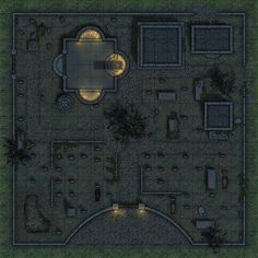 Heroic Maps - Day & Night: Cemetery - Heroic Maps | Buildings | Ruins | Temples & Churches | Wilderness | Day & Night | Tombs | Halloween | DriveThruRPG.com