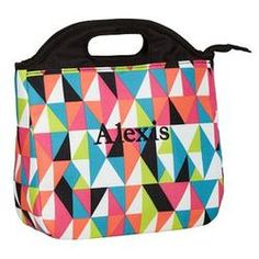 Cute Personalized Lunch Box For S Gear Up Black Kaleidoscope Tote Bag 19 50