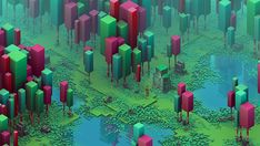 small series of isometric scenes ive been currently developing.