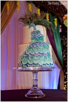 Peacock Wedding Theme cake